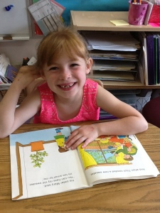 Natalie is ready to read this summer!