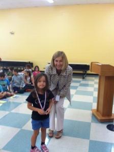 Kaitlyn Archambault, our top Kindergarten reader!