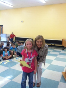 Samantha Thibeault, our top first grade reader!
