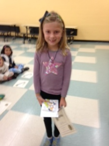 Teagan McMahon, top reader Grade 2.  Teagan read 5,890 minutes this summer!